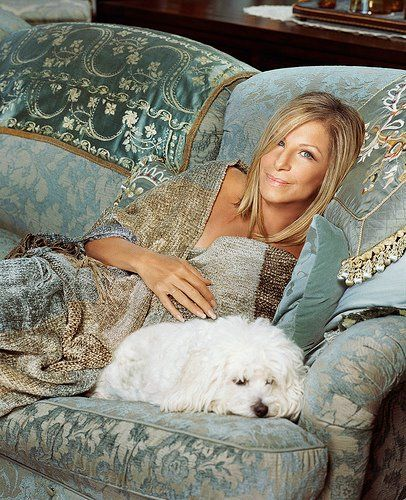 Barbara Streisand, the color palette & the adorable Maltese :-)
