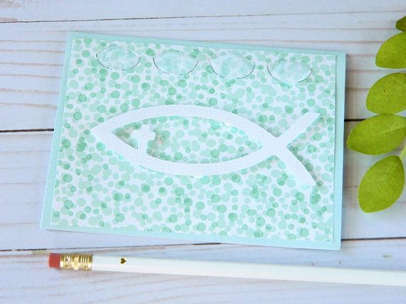 Easter Cards Ichthys Jesus Fish Baptism Cards First Holy Communion Sympathy Cards Christening Christian Cards Cricut Cards