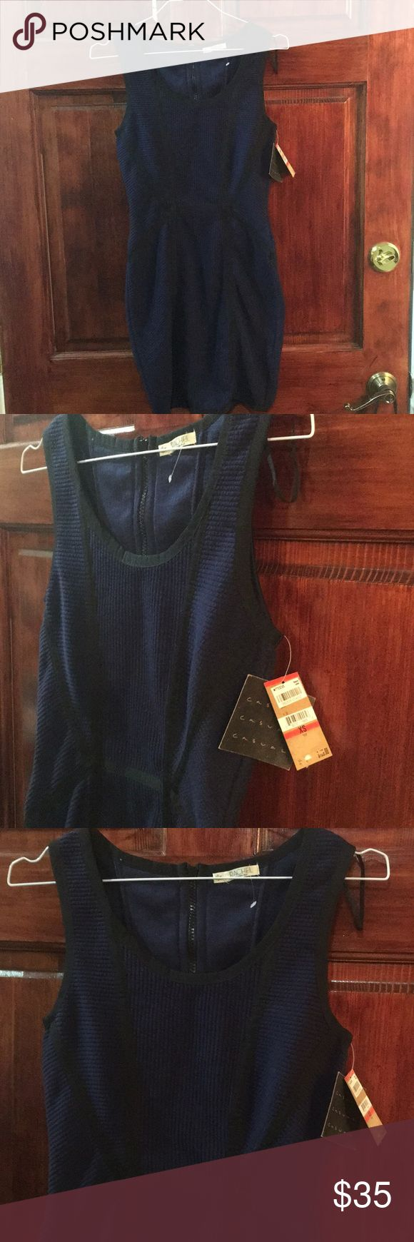 Navy and black bodycon dress NWT from Rachel Roy Very sexy NWT navy and black fitted dress from Rachel Roy. Size xs RACHEL Rachel Roy Dresses Mini