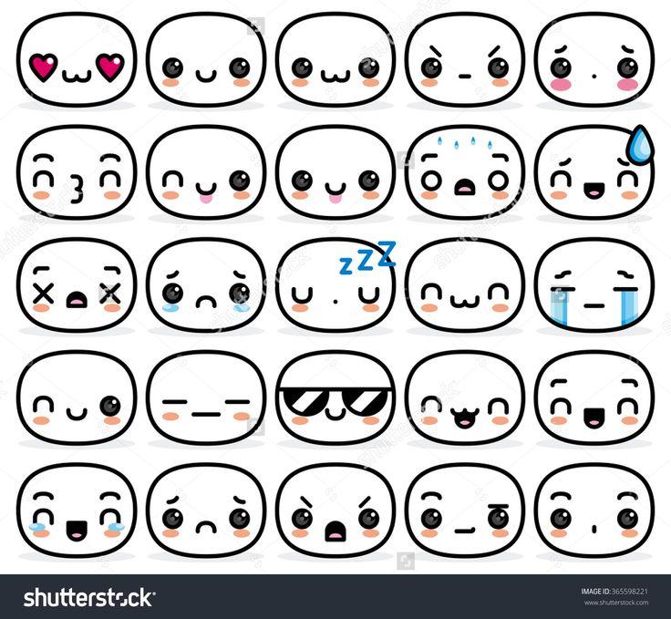 Vector Set Of Different Cartoon Faces - 365598221 : Shutterstock
