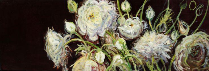 """White Ranunculus Going 1"""