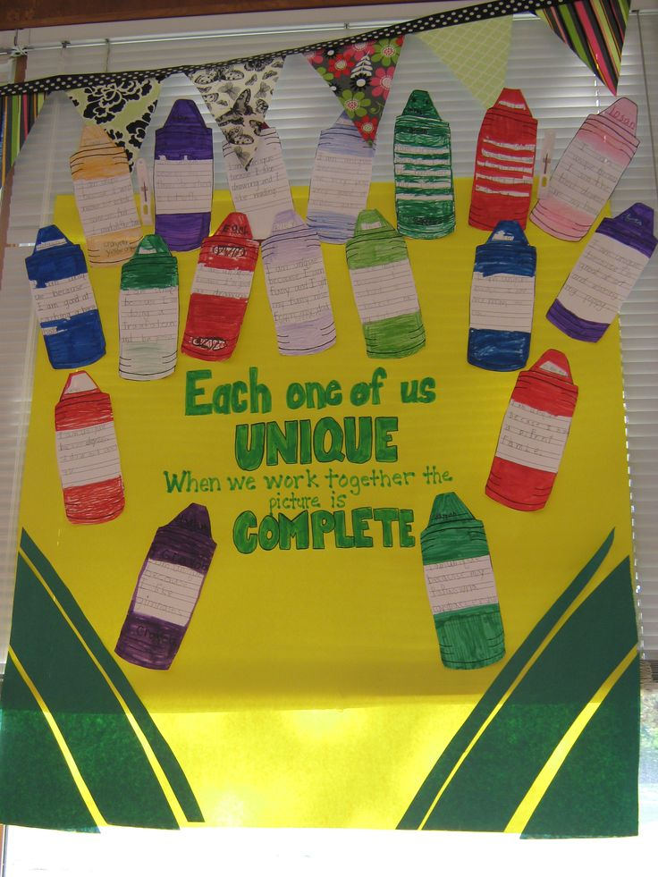crayon themed classroom ideas | Crayon Box That Talked Activity- Each Student wrote ... | Crayon Theme