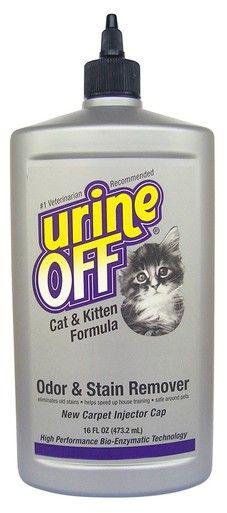 Urine Off Cat & Kitten Formula Bottle with Carpet Injector Cap Odor Remover 16oz