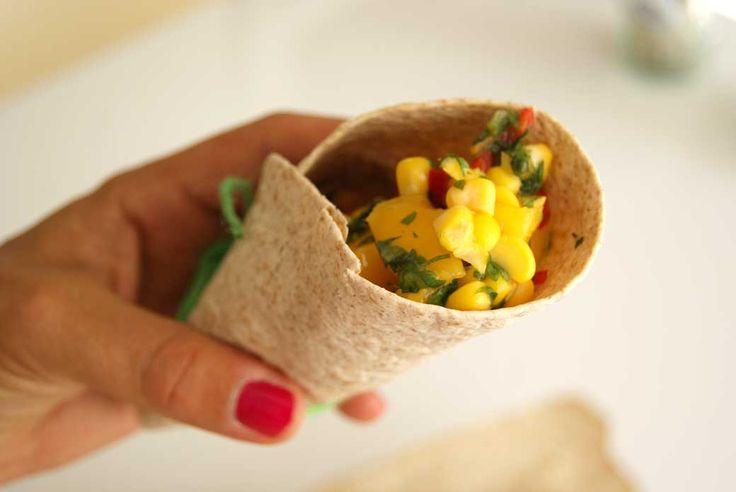 Tortilla kukoricás mangóval