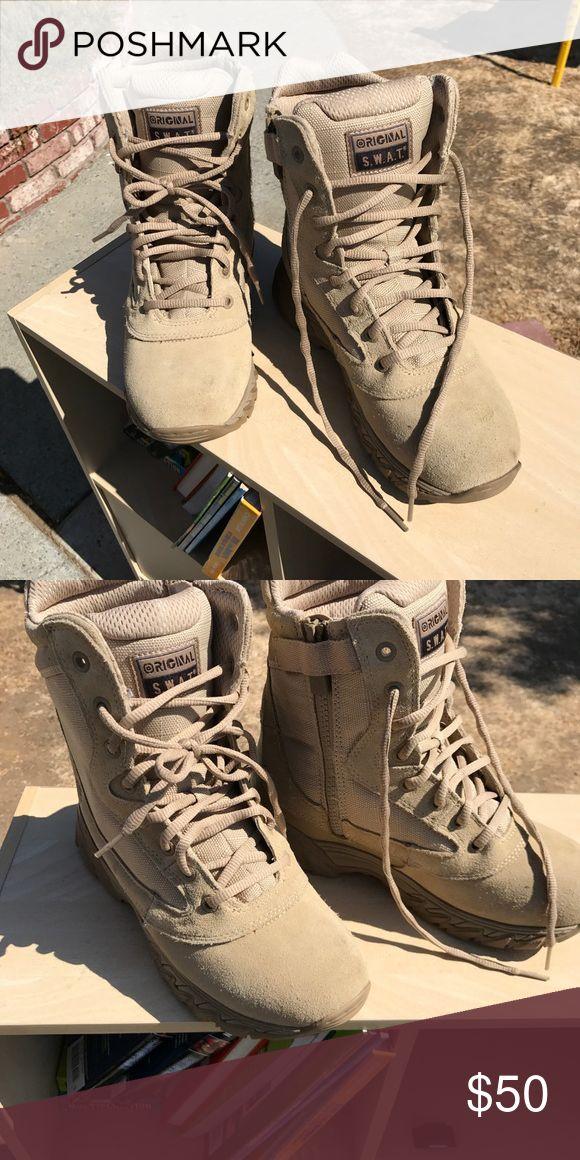 Combat boots Desert storm boots. Never worn. Size 6 in men. 8 in women swat Shoes Combat & Moto Boots