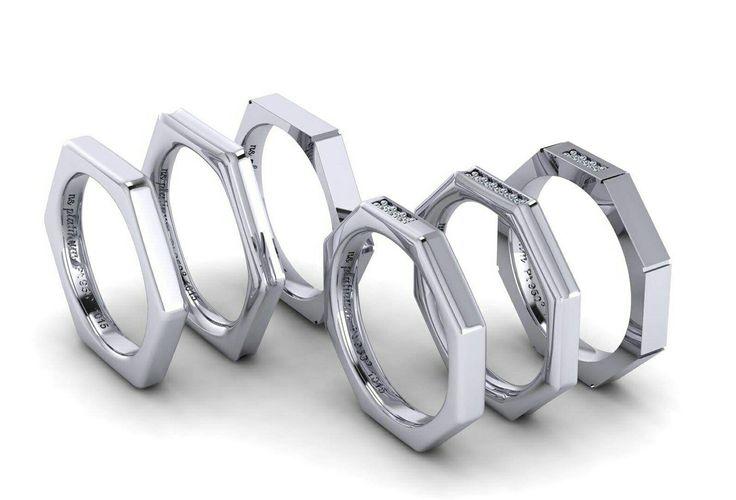 Βερες από πλατίνα με διαμάντια  Wedding rings with platinum and diamonds!