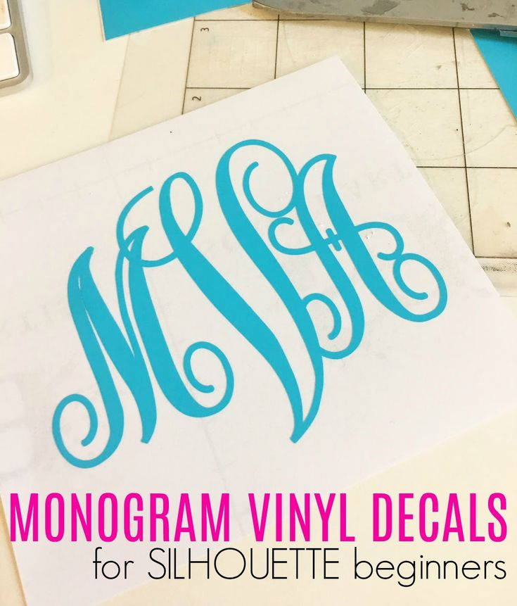 How to make vinyl monogram decals with Silhouette CAMEO