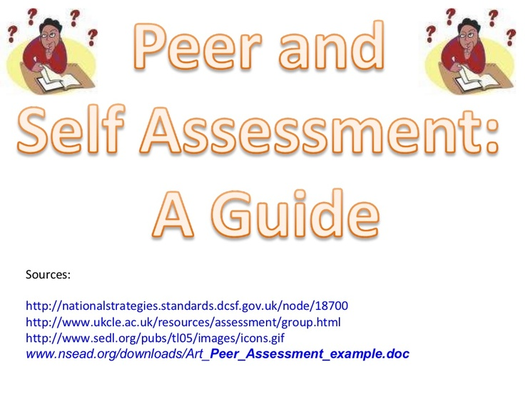 Peer And Self Assessment Guide By Mikegershon Via Slideshare
