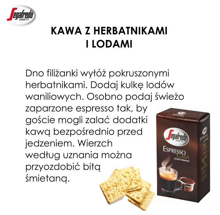 Przedstawiamy szybki przepis na kawę z herbatnikami i lodami, która doskonale zastąpi tradycyjne desery. #Kawa #Segafredo #PrzepisySegafredo #Herbatniki