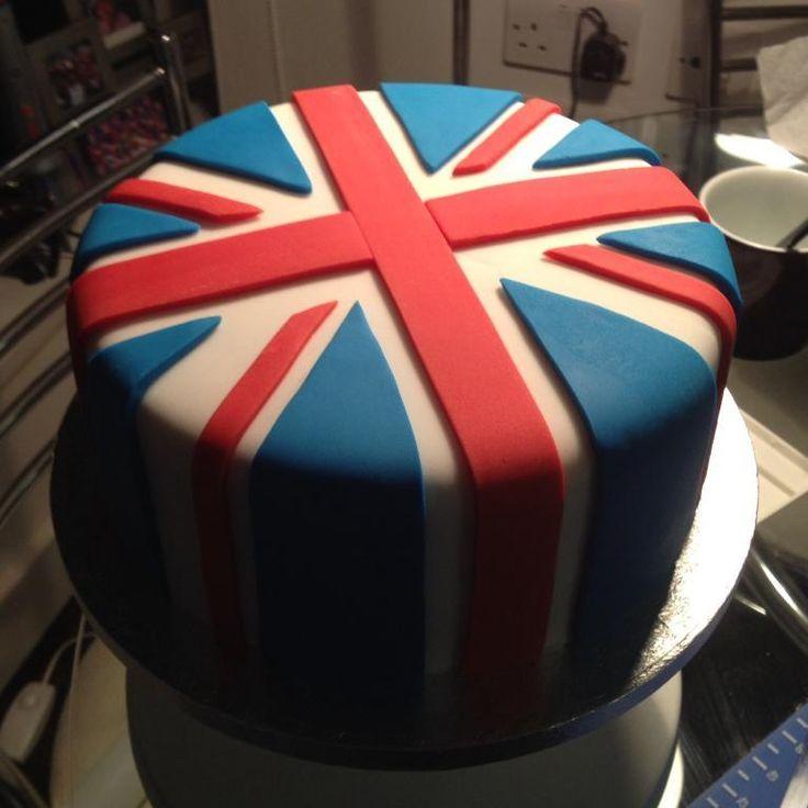 Union Jack celebration cake