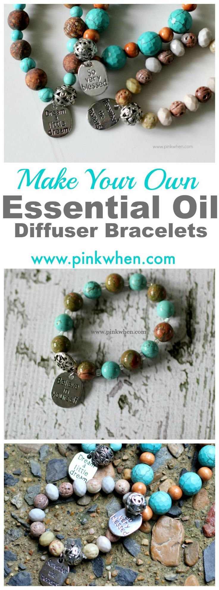 How to make your own diffuser bracelets. So cool!