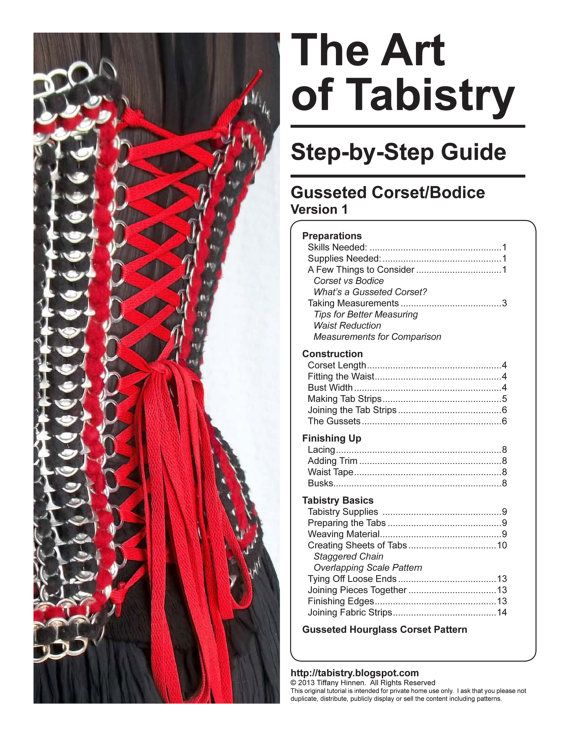 Tabistry Gusseted Corset PDF Tutorial Pattern and by mieljolie