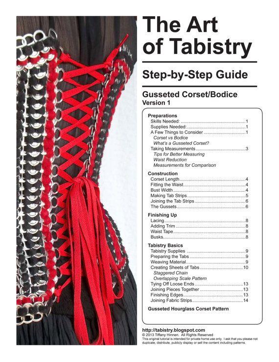 Tabistry Gusseted Corset PDF Tutorial Pattern and door mieljolie