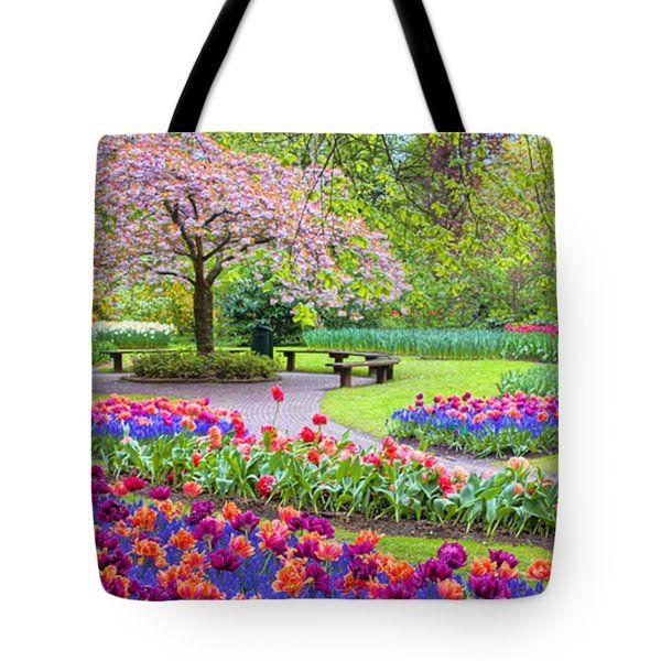 Tote Bags - Spring Season Tote Bag by Nadia Sanowar
