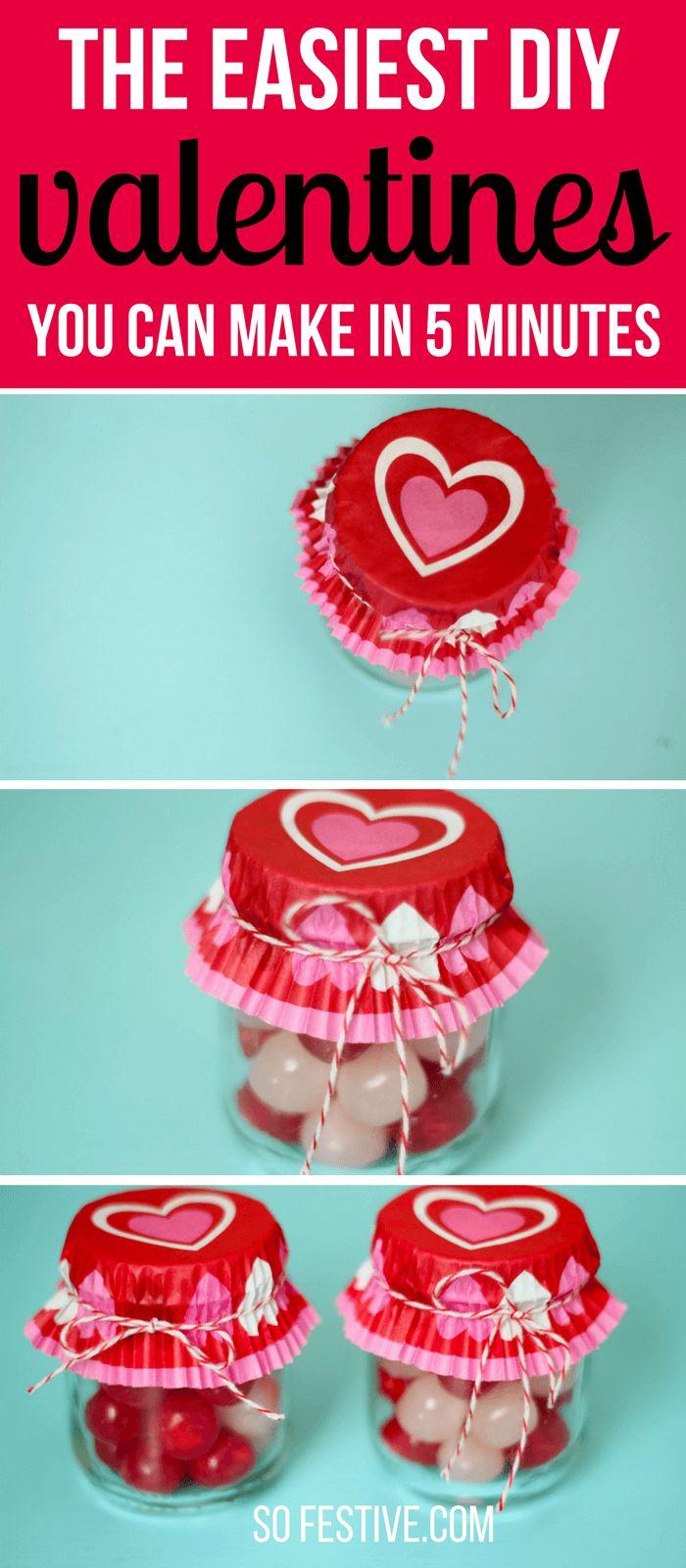 5-Minuten DIY Babynahrungsglas Valentines   – Holidays and Special Occasions ♥ Recipes, Decor, DIY, Crafts ♥