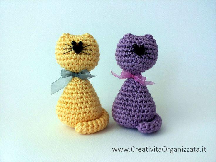 cats pattern amigurumi easy. ☀CQ #crochet #amigurumi  http://www.pinterest.com/CoronaQueen/crochet-amigurumi-corona/