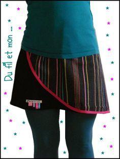 Du fil et mon...: Tuto Jupe porte feuille Couture facile