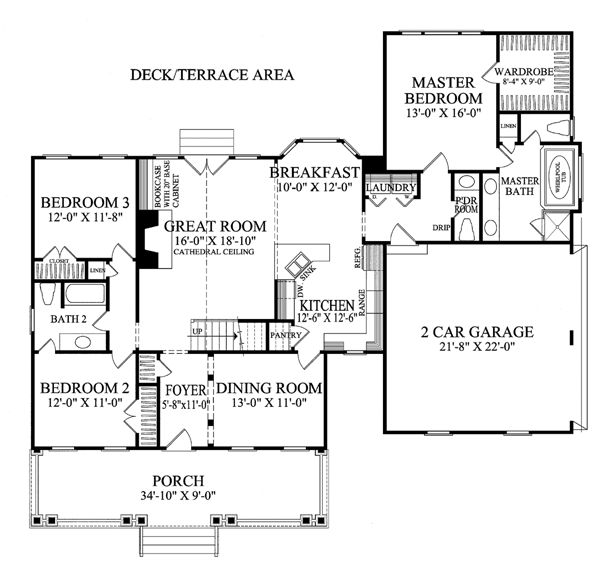 Colonial Cottage Country Southern House Plan 86273 House