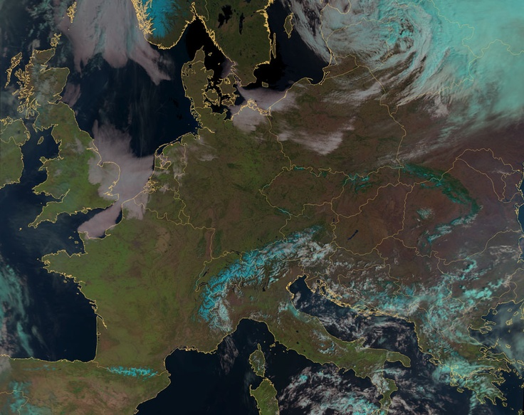 Eumetsats MetOp clear sky of Europe