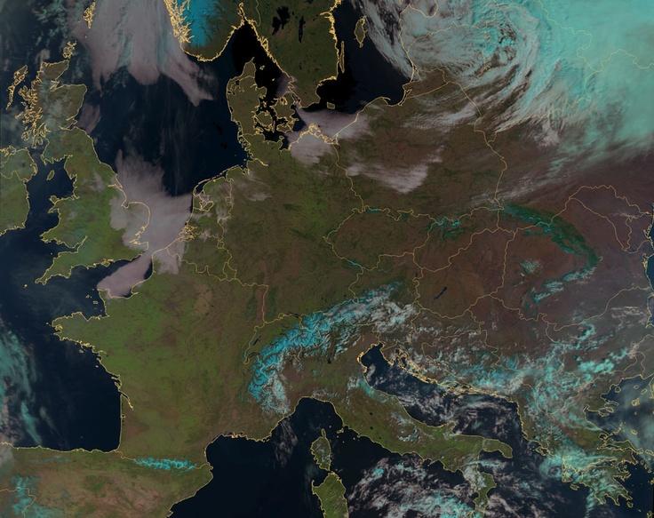 Eumetsats MetOp clear sky of Europe