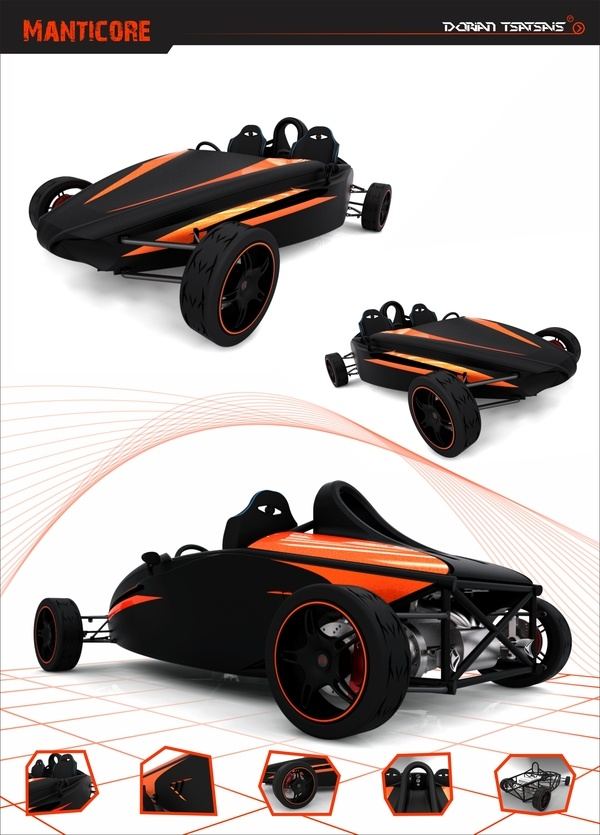 Manticore - It's a two seat sport racing vehicle.