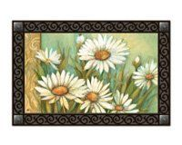 """Mailwraps Daisies MatMate by MailWraps. $20.00. Non-slip recycled rubber backing. 18"""" x 30"""". Can be used in tray or stand alone. Die-sublimated mat. Non-slip recycled rubber backing. Weatherproof for outdoor use.Disclaimer: Descriptions and dimensions are subject to change.Product Length: 18 inches, Product Height: 0.1 inches, Product Width: 30 inches.NOTE: An extra $10.00 handling fee will be applied to Canada orders."""