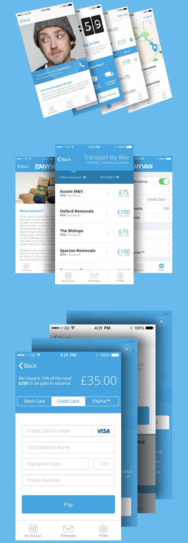 AnyVan #ui #app #ios