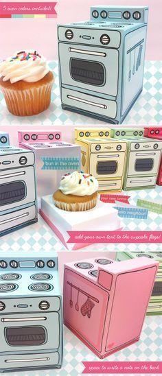 DIY: Retro Oven Cupcake Box | techlovedesign.com