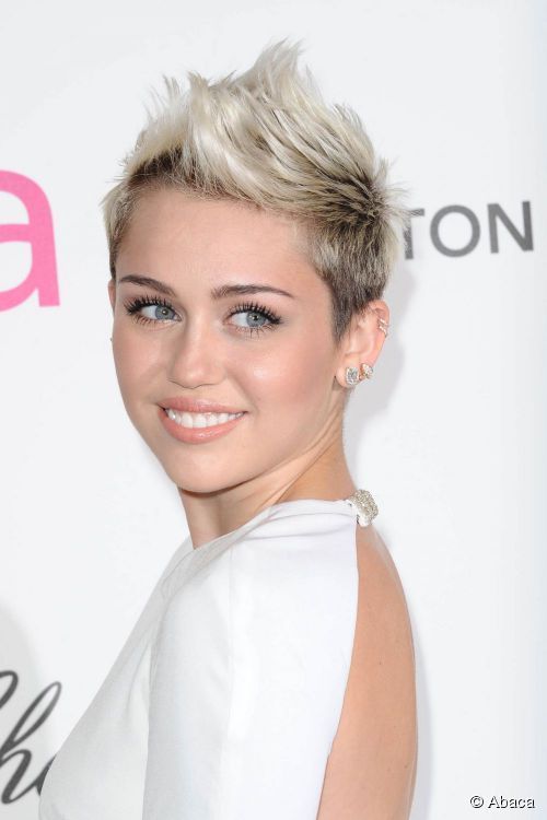 Miley Cyrus showed off her short mohawk hairstyle at an Oscar party on 24 February 2013. Are you brave enough to try a similar look?