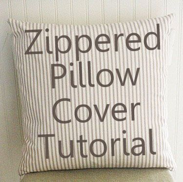Zipper Pillow Cover Tutorial & 115 best Sewing Pillows images on Pinterest | Cushions Sewing ... pillowsntoast.com