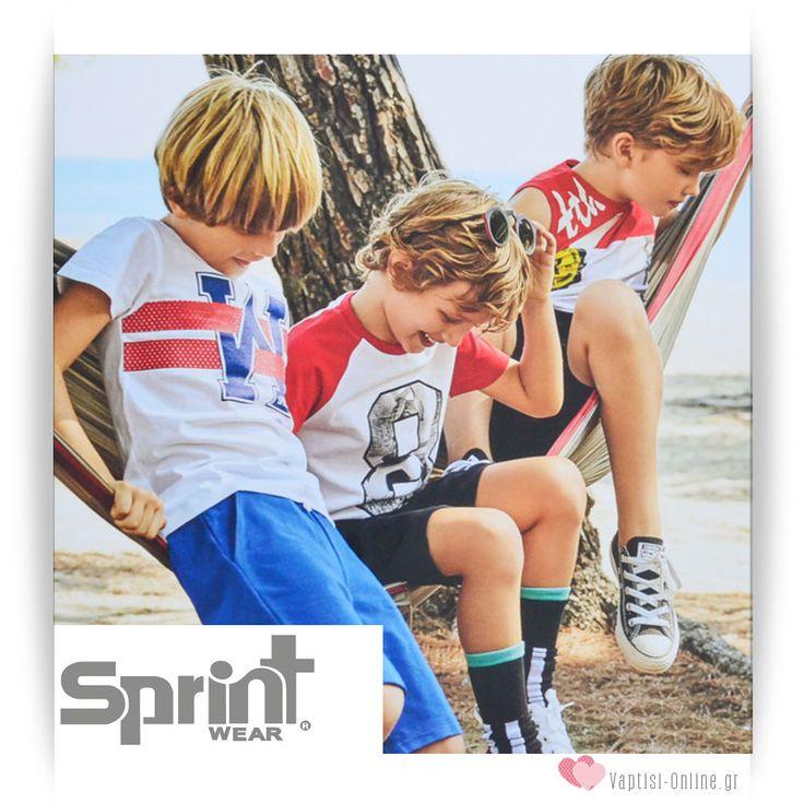 Παιδικά Ρούχα SPRINT Άνοιξη / Καλοκαίρι 2017 Δείτε τα εδώ:  http://www.vaptisi-online.gr/sprint.html