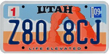 This is the official license plate for the state of Utah as it has been officially adopted by the state legislature. Also known as a vehicle registration plate, it is used to identify the car and owner of a motor vehicle or trailer in the state.