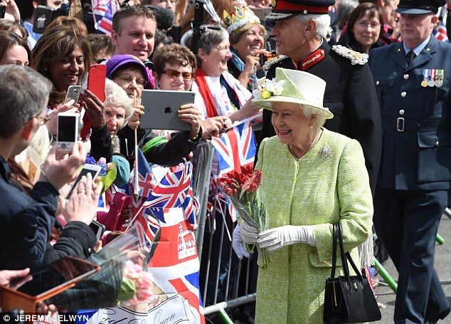 Her Majesty meets the public in Windsor on her birthday in April ahead of official celebra...