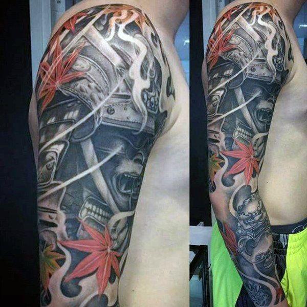 Top 103 Samurai Mask Tattoo Ideas 2020 Inspiration Guide Sleeve Tattoos Full Sleeve Tattoos Tattoo Designs Men