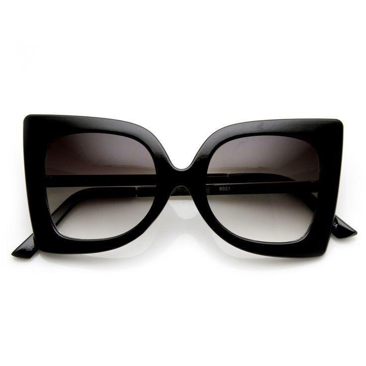 Womens Oversize Fashion Butterfly Shape Sunglasses - zeroUV