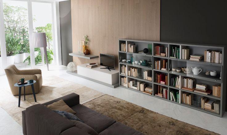 Βιβλιοθήκες έπιπλα :: Βιβλιοθήκες με ξύλο και λάκα :: Βιβλιοθήκη Space 6 - Balton.gr