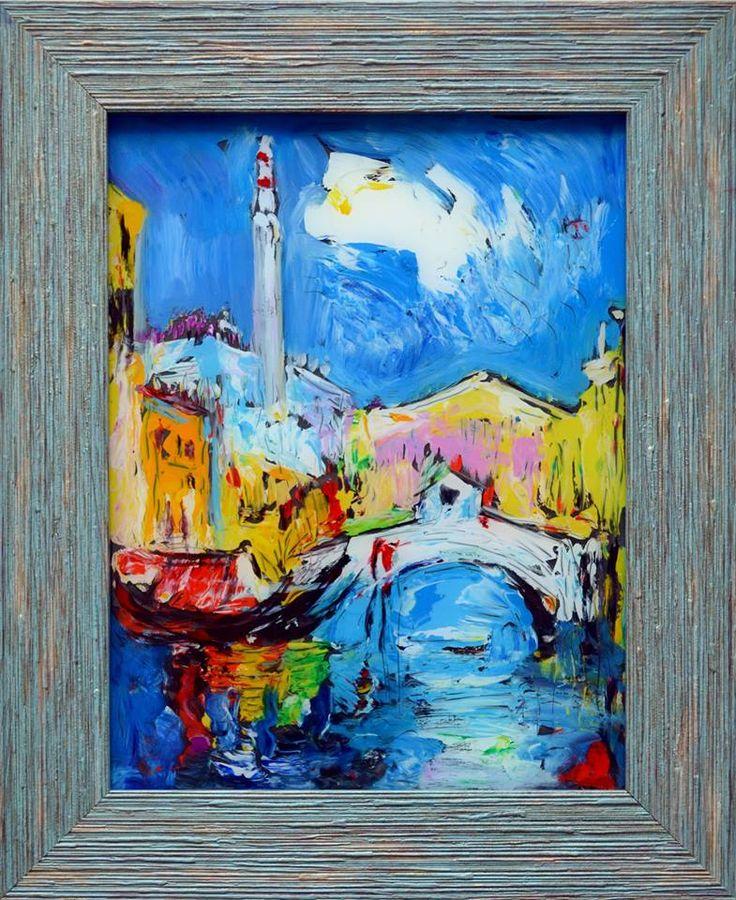 Утро в Венеции  стекло,м. 27х20 продано  Заказать авторский повтор +7 (912) 673 9616