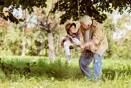 Playful grandfather royalty-free stock photo