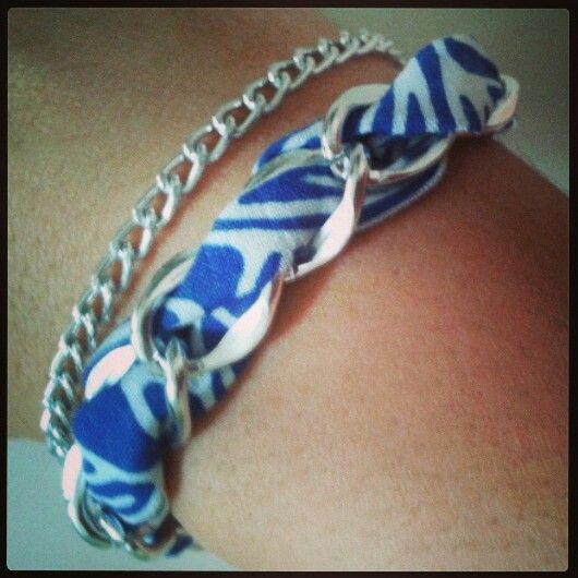 Sailor blue chain bracelet by www.pelopeshop.blogspot.com