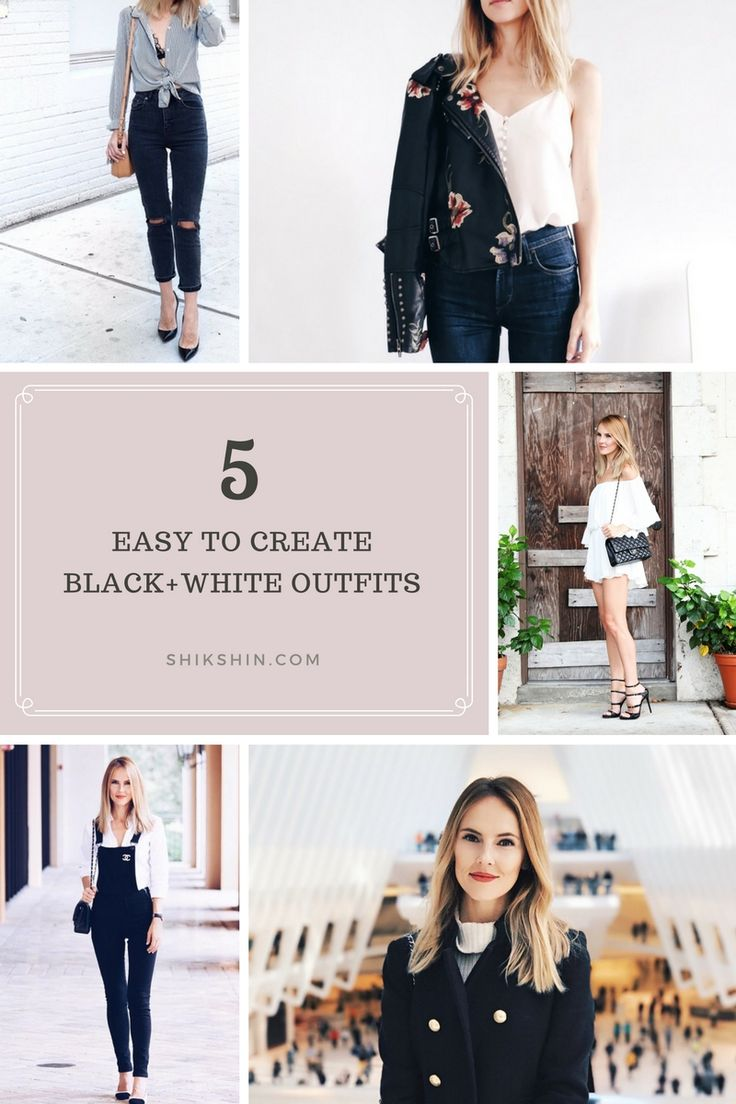Black + White outfits that are super simple to recreate