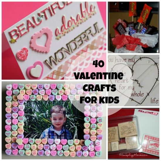 40 Fun and Easy Valentine's Day Crafts for Kids