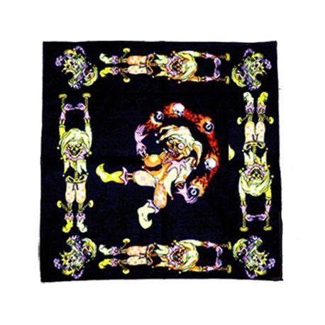 bandana motif clown diabolique