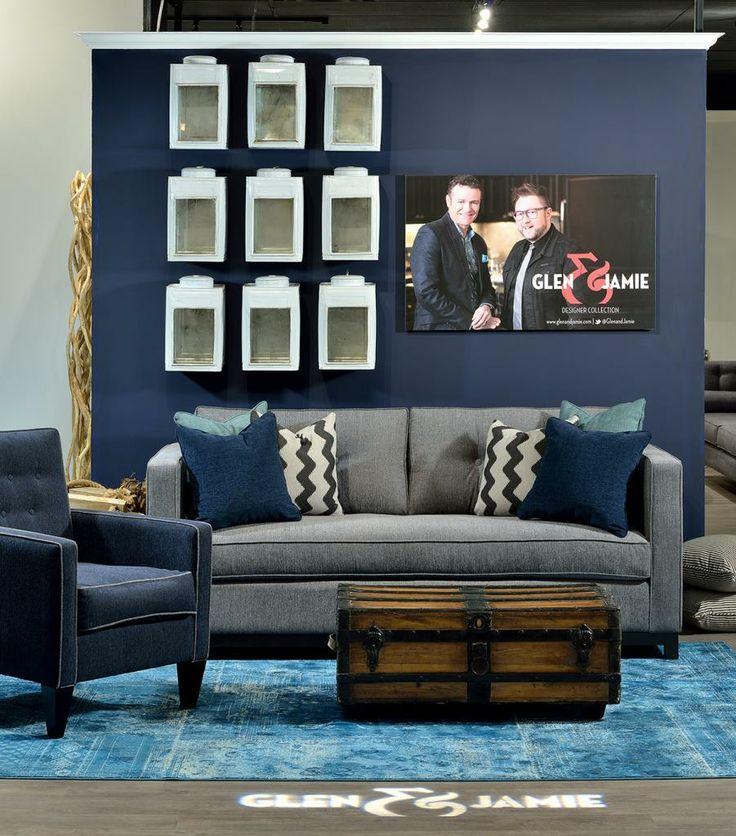 Space shown at the Van Gogh Showroom 2014. #GlenandJamie #Design #sofa #chest #chair