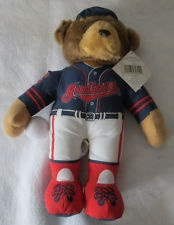 CLEVLAND INDIANS STUFFED PLUSH BEAR IN HAT Good Stuff baseball teddy bear MLB