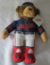 CLEVLAND INDIANS STUFFED PLUSH BEAR IN HAT Good Stuff baseball teddy bear MLB