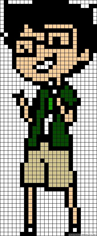 Homestuck Jake English perler bead pattern