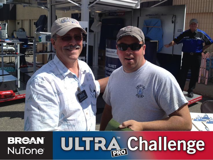 Week 2 of the #Broan #ULTRAPro Challenge has begun! Congrats to Ryan Oksendahl (shown on the right in photo), the winner of the Pipeline Supply event in Hopkins, MN on 8/13/13. Ryan completed the Challenge in 6 minutes and 2 seconds.