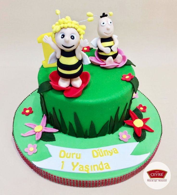Kişiye Özel  Sevimli Arılar Temalı Pasta