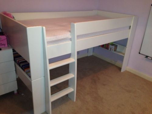 steens mid sleeper in white mid sleeper and ebay. Black Bedroom Furniture Sets. Home Design Ideas