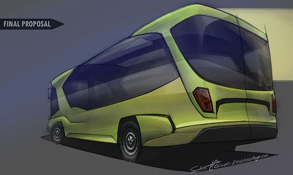 City bus, for short or middle distance.